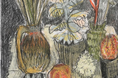 (Ref - 13: JJ2) Still Life with Zig Zag Jug, pencil and pastel on paper, 34 x 33 cms, £235, framed