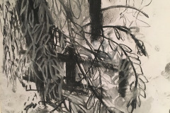 (Ref - 42: JJ16) Trailing Foliage III, Charcoal and pastel on paper, 48 x 38 cms, £95, mounted