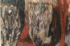 (Ref - 3: JJ8) Vindolanda Landscape I, pastel  on paper, 28 x 27 cms, £145, framed