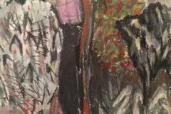 (Ref - 4: JJ9) Vindolanda Landscape II, pastel  on paper, 28 x 27 cms, £145, framed