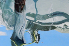(Ref - 27: MS10) BURANO – CANAL REFLECTIONS, Oil on Canvas, 50 x 50 deep edged canvas, £525