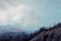 (Ref - 34: MS11) PENNINE MIST, Oil on Canvas, Actual Image Size: 40 x 50, Framed Size: 42 x 53, £450