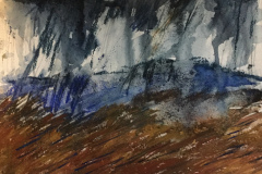 Blue Fell, Hazel Barron-Cooper, Watercolour, 44.5cms x 51cms, £170, HBC15