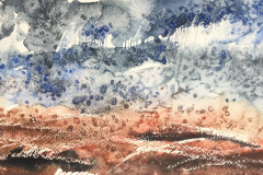 Earth & Sky 2, Hazel Barron-Cooper, Watercolour, 36.5cms x 46cms, £120, HBC17