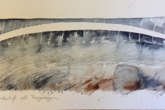 Landscape with a Rainbow, Hazel Barron-Cooper, Watercolour, 40cms x 60cms, £180, HBC8