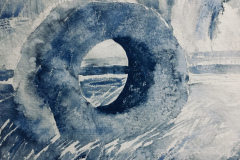 Men-an-Tol, Hazel Barron-Cooper, Watercolour, 30cms x 42cms, £180, HBC25