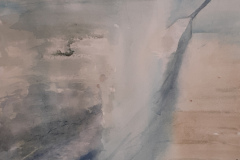 Mist on the Wall 1, Hazel Barron-Cooper, Watercolour, 112cms x 52cms, £250, HBC13