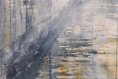 Mist on the Wall 2, Hazel Barron-Cooper, Watercolour, 112cms x 52cms, £250, HBC14