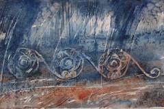 Northumbrian Spirals, Hazel Barron-Cooper, Watercolour, 56cms x 102cms, £500, HBC11