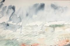 Pale Sky, Hazel Barron-Cooper, Watercolour, 28cms x 76cms, £220, HBC21