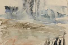 Rain Painting, Hazel Barron-Cooper, Watercolour, 68cms x 51cms, £280, HBC7