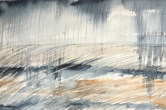 Rain and Land 2, Hazel Barron-Cooper, Watercolour, 76cms x 28cms, £120, HBC20