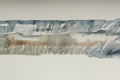 Wall Country, Hazel Barron-Cooper, Watercolour, 24cms x 56cms, £100, HBC 27