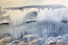 Cascading Sky, Hazel Barron-Cooper, Watercolour, 65cms, x 131cms, £700, HBC12