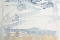 Clouds on Wall, Hazel Barron-Cooper, Watercolour, 76cms x 28cms, £120, HBC24