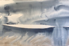 Sky Meets Land:From Walltown,South, Hazel Barron-Cooper, Watercolour, 65cms x 131cms, £700, HBC6