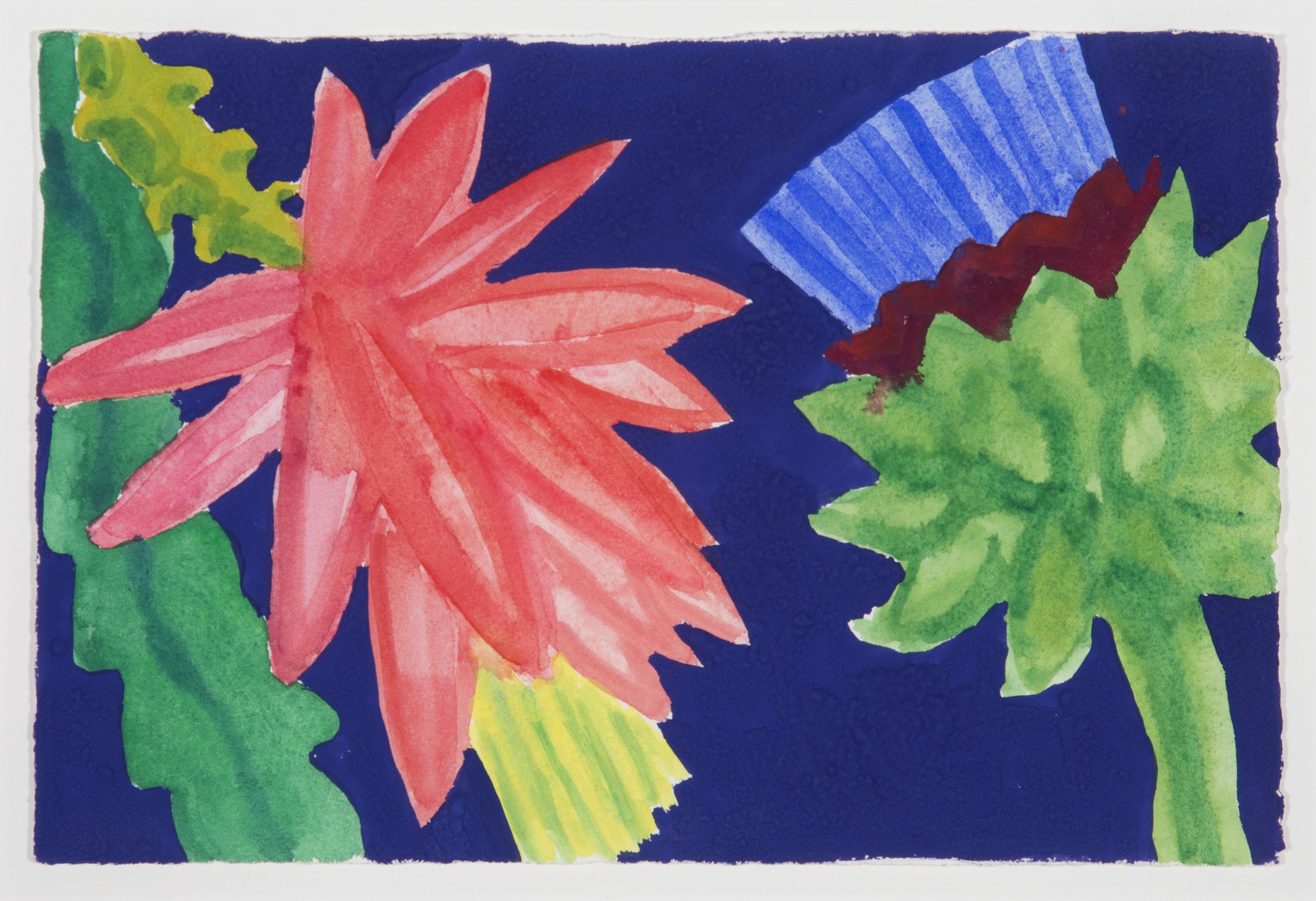 Artichoke and Cactus on Deep Blue [dxa-98]