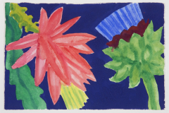 Artichoke and Cactus on Deep Blue [dxa-98]