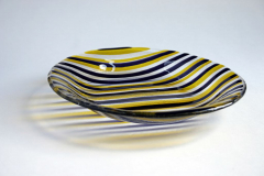 Africa: Bullseye glass slumped bowl 30 x 30 cm