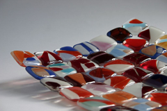 Mosaic slump: Bullseye glass 30 x 30 cm