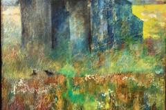 Title: Absence 7 - Type: Oil on canvas on hardboard, black frame - Size: 700x500mm - Ref: ART1J/F - Cost: £225  Gallery, £75 Foodbank