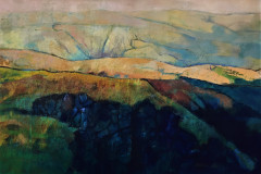 Title: Quarry Edge - Type: Mixed media, box canvas - Size: 910x610 no frame - Ref: ART10J/F - Cost: £375 Gallery, £125 Foodbank