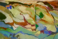Title: High Summer - Type: Pastel, white frame, glass - Size: 385x315 including frame - Ref: ART26J/F - Cost: £112 Gallery, £38 Foodbank