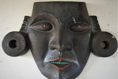 Title: AZTEC HEAD, black/green glazed - Ref: DKSCU20 - Cost: £795
