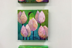 11. Tulips - Sheila Smith - Type: Oil, Box Canvas - Size: 200x200mm - Cost: £45 each, 3 for £140