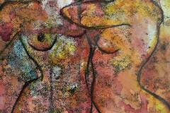 18. Dancing - Bernadette Koranteng - Type: Mixed media behind glass - Size: 440x335mm - Cost: £175
