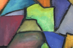 20. Stained Glass - Rick Kemp - Type: Mixed media on Canvas - Size: 1010x500mm - Cost: £435