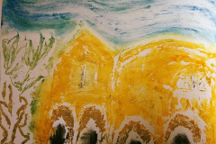 29. The Yellow House - Carole Thirlaway - Type: Collagraphs, Oil on somerset paper - Size: 520x430mm - Cost: £225