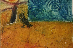 30. Old Wall, Tree and Owl - Carole Thirlaway - Type: Collagraphs, Oil on somerset paper - Size: 520x430mm - Cost: £225