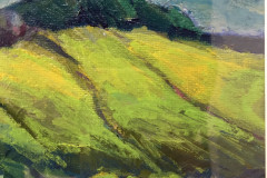 32. Sheltered Hills - Christine Minguard - Type: Acrylic on Board behind glass - Size: 410x355mm - Cost: £330